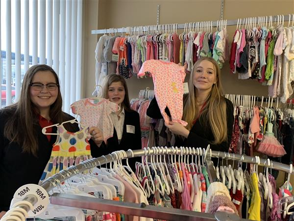 FBLA  members toured Teen and Kids Closet to see  how they help children in foster care